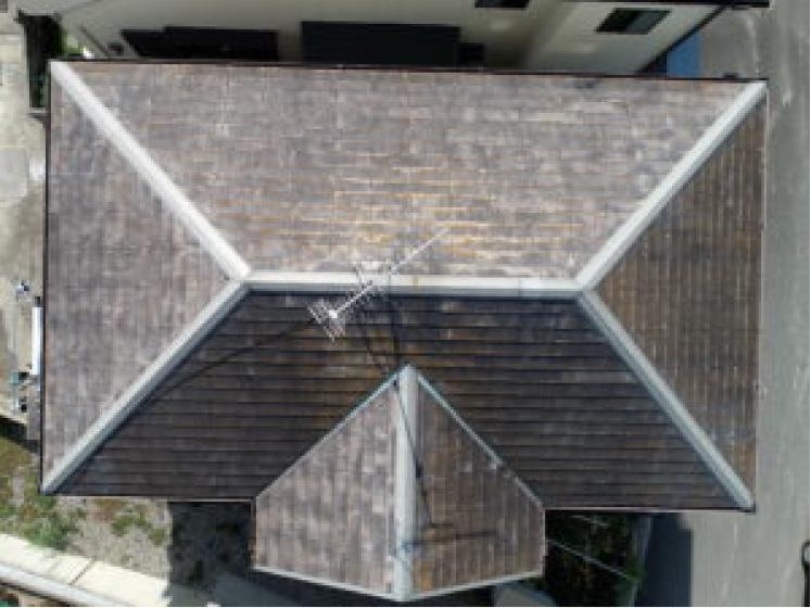 屋根の点検に「ドローン」を導入!